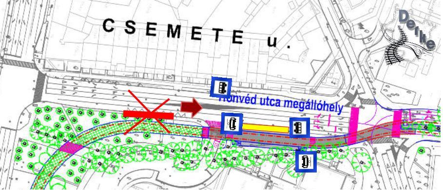 Javasolt átszállási kapcsolat a Csemete utcán
