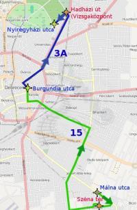 Az alábbi térképen jelzett út megtételéhez a DKV Zrt. hatályos Személyszállítási Üzletszabályzata szerint 4 db jegyet kell érvényesíteni