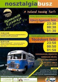 Ismét Nosztalgia busz a Múzeumok Éjszakáján
