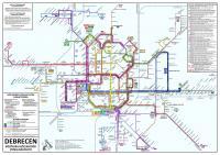 Debrecen nagyfelbontású vonalhálózati térképe (FRISSÍTVE!)