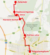 A túra tervezett útvonala